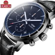купить OLMECA Men's Wristwatches Auto Date Fashion Luxury Quartz Watches Relogio Masculino Watches 30M Waterproof Clock Watch For Men по цене 9117.72 рублей