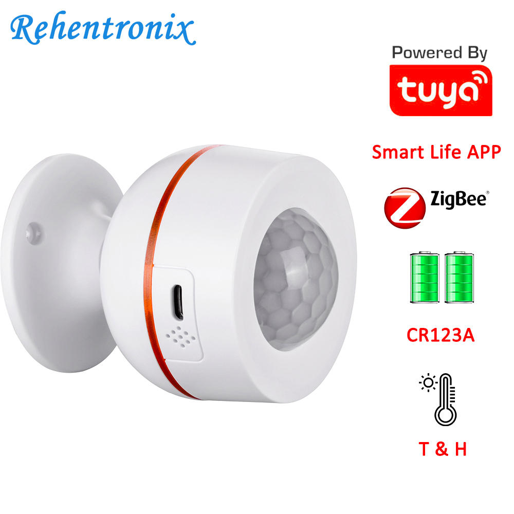 Tuya ZigBee Battery Built-in 5V 1A USB Power Temperature Humidity Wireless WiFi PIR Motion Sensor Detector