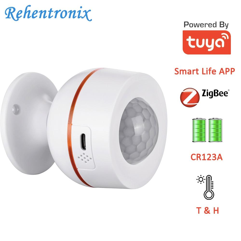 Tuya ZigBee Battery Built-in 5V 1A USB Power Temperature Humidity Wireless WiFi PIR Motion Sensor Detector