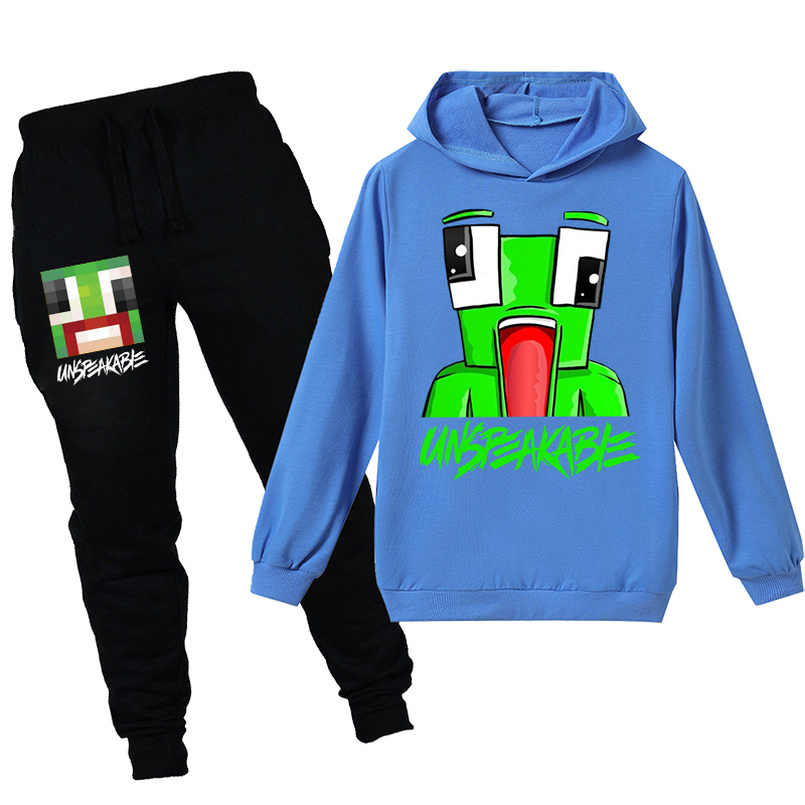 Unspeakable Boys Hoodies Set Kids Outfits Cartoon Characters Pullover Cotton Sweatshirt Trousers Girls Long Sleeve T-Shirt Clothes