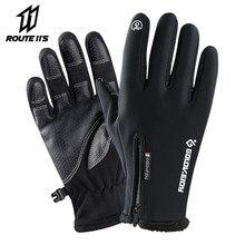 Gants de Moto pour l'hiver, doublure polaire thermique, résistant à l'eau, antidérapants pour la conduite de Moto