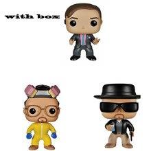Breaking bad heisenberg saul goodman walter branco pop withbox vinil figuras de ação modelo brinquedos para crianças presente aniversário