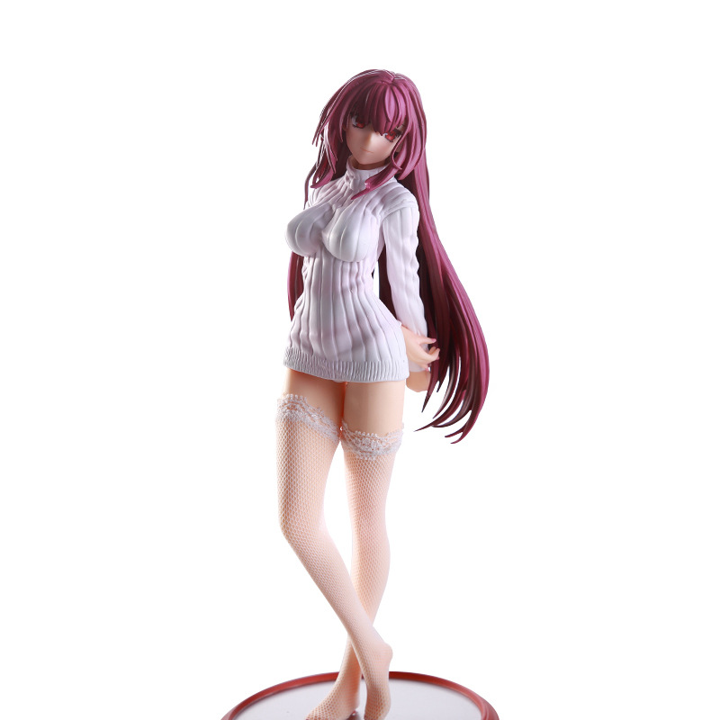 Fate Stay Night 25cm Lancer Scathach Sweater With Stockings Sexy Girl Fate Grand Order PVC Action Figures Toys Anime Figure Toys