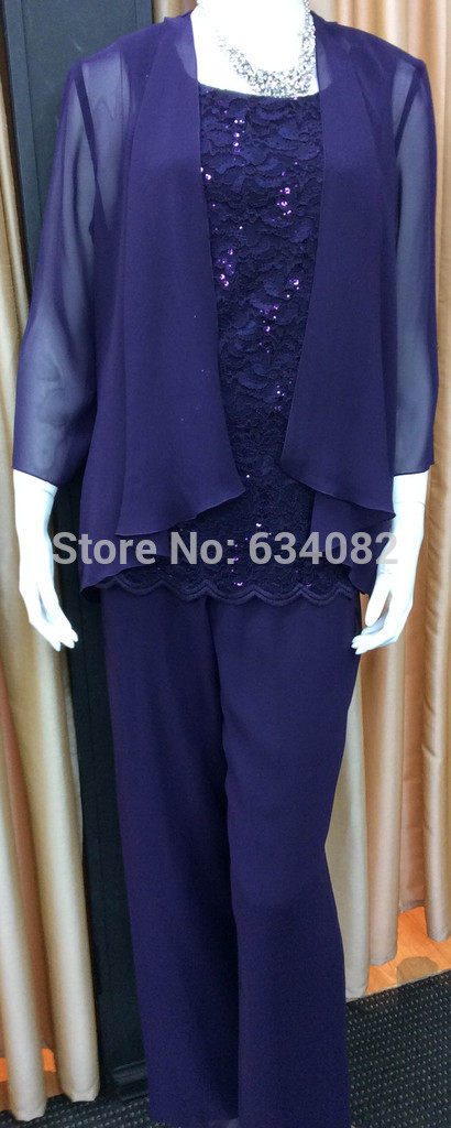 Hot Free Shipping Lace Woman Mother of the Bride Pant Suits 2015 Formal Plus Size Mother of the Bride Dresses With Jacket