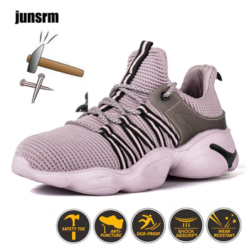 New safety shoes Breathable Lightweight work shoes Steel toe Anti-smashing Anti-piercing Wear-resistant protective shoes men labor insurance shoes men breathable deodorant safety work shoes steel toe caps anti smashing anti piercing site shoes 36 46