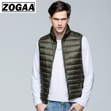 цена на ZOGAA 2019 NEW Winter Men Duck Down Vest Male Duck Down Ultra Light Duck Down Vest Loose Waistcoat Vest Sleeveless Jacket XS-3XL