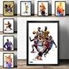 Nba All-Star Retro Posters Kobe Lebron Inkt Jordan Liffin Davis Canvas Print Schilderij Basketbal Muur Art Mural Voor home Decor