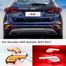 For Hyundai IX45 Santafe 2016 2017 2018 Rear Bumper Light Fog lamp Driving Light Brake Light Turn Signal lights for hyundai santa fe ix45 2016 2017 sncn multi function car led rear bumper light auto brake light turn signal light reflector