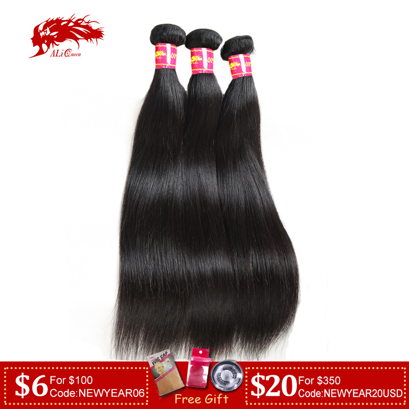 Hair-Weave-Bundles Natural-Color-Hair Ali-Queen Straight 8--30-100%Human-Hair-Bundles title=