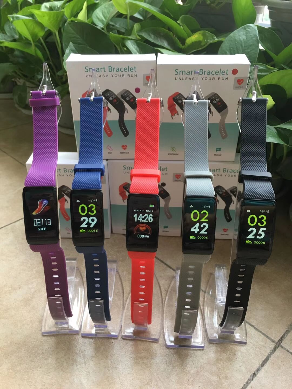 H88999eae640046628c6016aaf16efd77R 1.14 Smart Band Weather Display Blood Pressure Heart Rate Monitor Fitness Tracker Smart Watch Bracelet Waterproof Men Women Kids