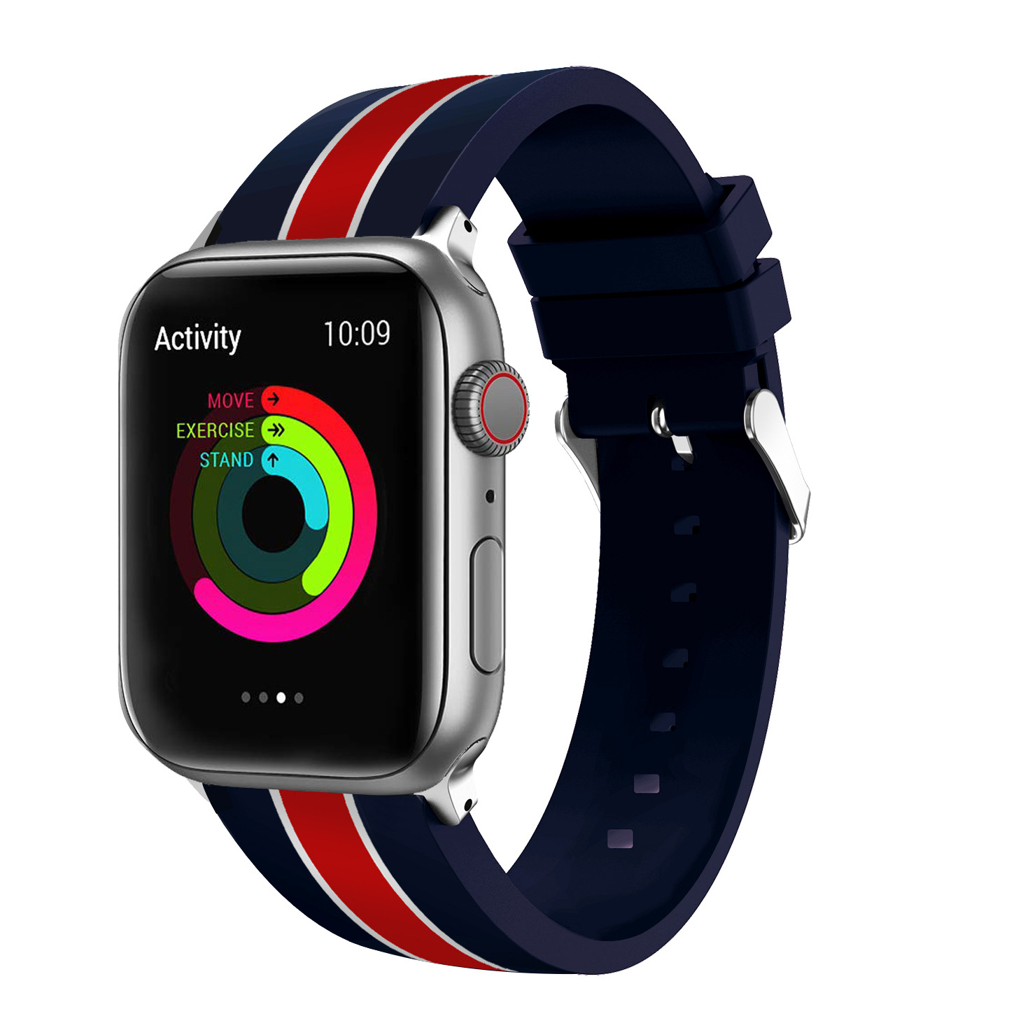 Suitable For Apple Watch Colour Printing Silicone Watch Strap AppleWatch Printed Silicone Wrist Strap IWatch New Style