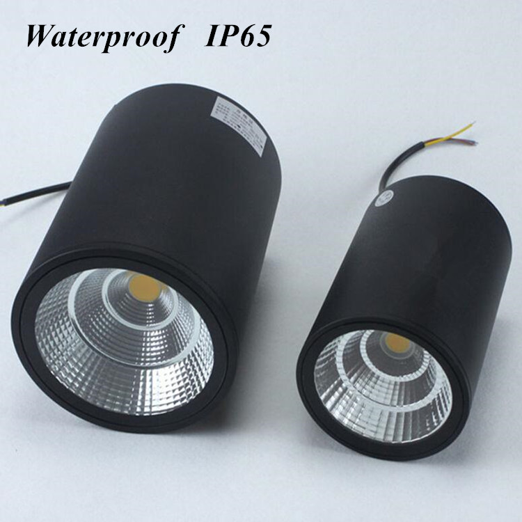 Waterproof Ip65 Round High Power Led Ceiling Lamp Surface Mounted 7W 12w 20w 30w COB Ceiling Light AC90-265V RA>90