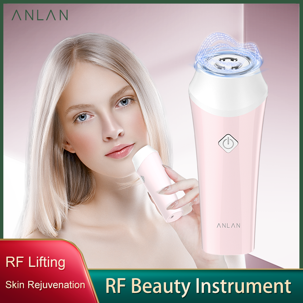 ANLAN RF Beauty Instrument Radio Frequency Skin Rejuvenation Brightening Facial Mesotherapy Wrinkle Removal Face Lifting Firming
