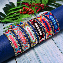 MOON GIRL 6Pcs Lace up Bohemian Braided Bracelet for Women Fashion Handmade Woven Vsco Chic Pulseras Femme Jewelry Dropshipping(China)