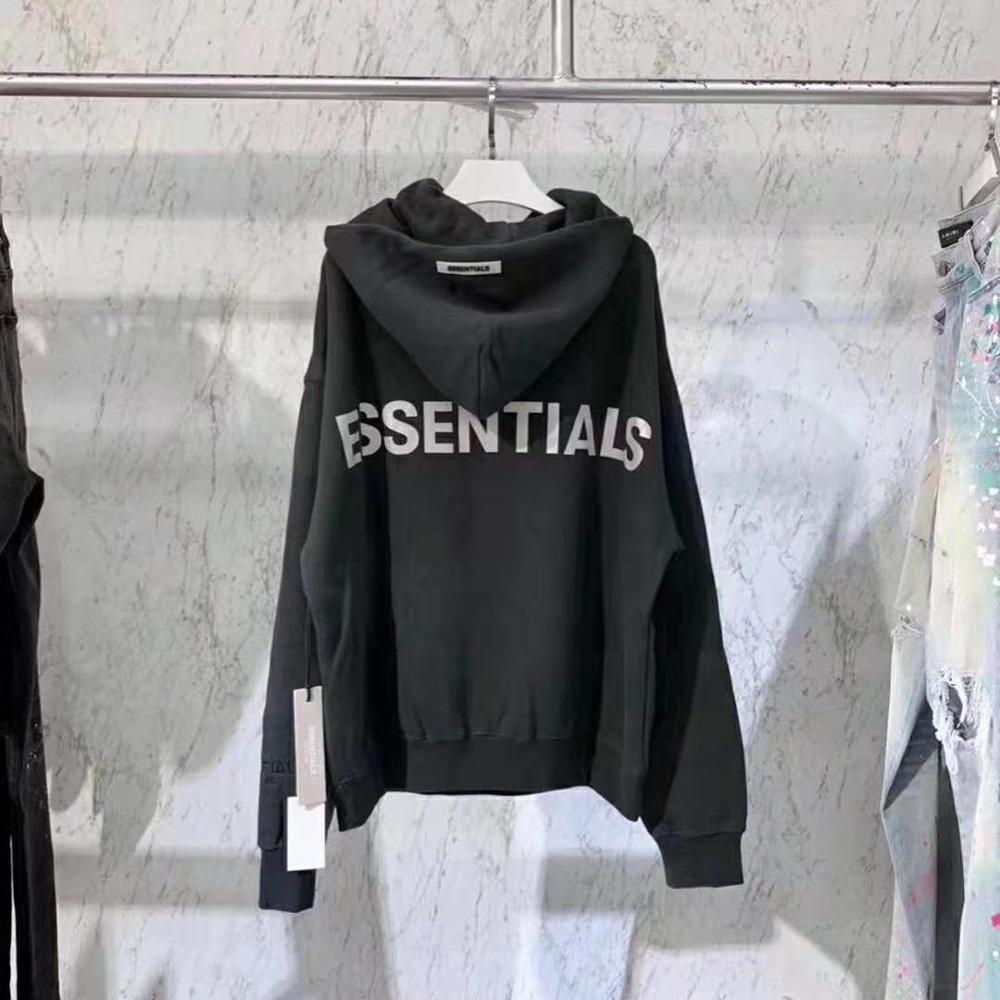 Image 4 - 2020 Latest top Hip Hop FOG Essentials Season 6 3M Reflective Pullover Hoodies Hip Hop Oversize Men Women Fashion Sweatshirts-in Hoodies & Sweatshirts from Men's Clothing