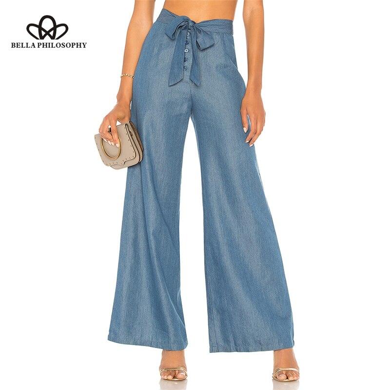 Sorte um verão plana cintura alta calças femininas com cordão flare calças senhoras streetwear sólido zíper rendas até arco botto