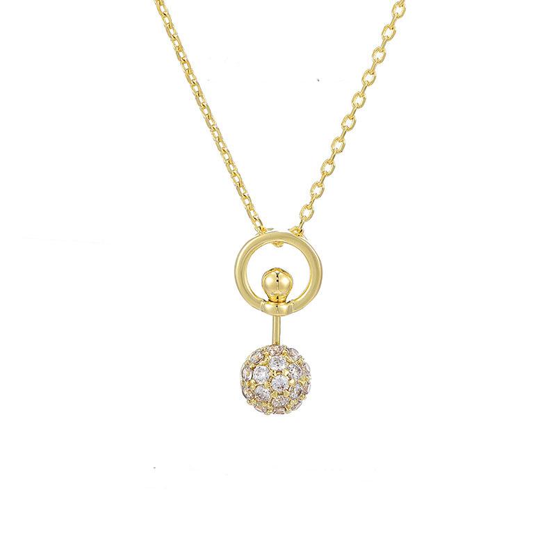 14k золотые ожерелья для женщин простое модное ожерелье подвеска