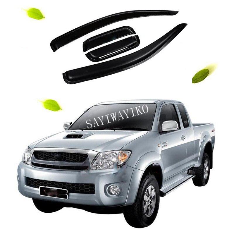 Car Accessories Window Visor Sun Rain Wind Deflector Awning Shield Vent Guard Shade Cover Trim for For HILUX VIGO 2005 2015|Car Covers| |  - title=