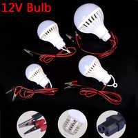 Lámpara LED DC 12 V E27 bombilla Led 5W 7W 9W lampadada 12 voltios al aire libre luz de noche pesca colgante campamento luz emergencia blanco frío