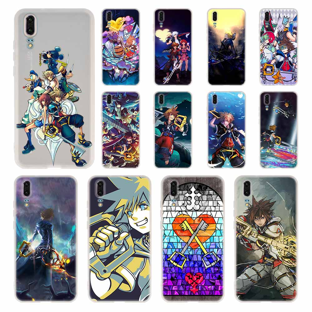 <font><b>Case</b></font> Silicone Soft TPU Cover For <font><b>Huawei</b></font> P40 P30 P20 Pro P10 <font><b>P9</b></font> P8 Plus P Smart <font><b>Lite</b></font> 2017 Kingdom Hearts Stained <font><b>Glass</b></font> <font><b>Cases</b></font> image
