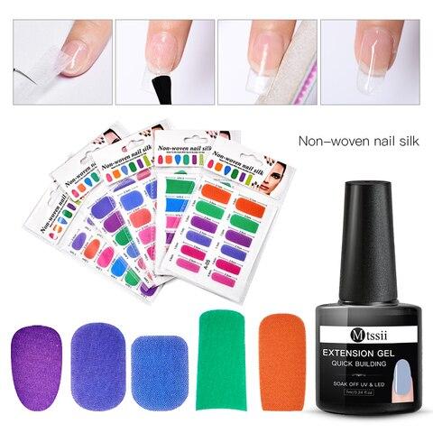 Colorful Fiberglass Nail Extension Silks Set Quick Building Gel Set Tip Nail Wraps Form Extension DIY Nail Art Tool Kit Karachi