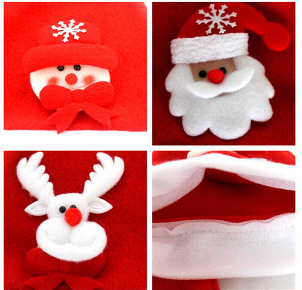 Nuevo niño sombrero de Navidad LED Santa Claus alce muñeco de nieve familia a juego trajes Navidad Fiesta Cap regalo para niños chico bebé