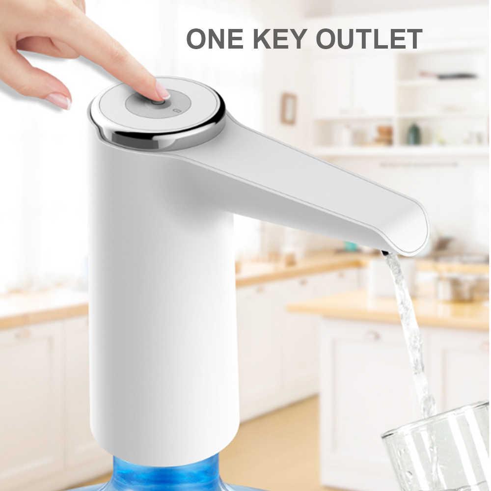 อัตโนมัติเครื่องสูบน้ำไฟฟ้าแบบพกพาปั๊ม Dispenser Gallon Bottle Drinking สีเขียว/สีชมพู/สีขาว USB ชาร์จ