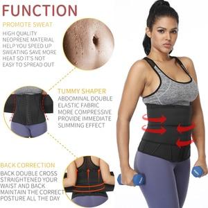Image 3 - 허리 트레이너 여성 슬리밍 Sheath Tummy Reducing Shapewear 배꼽 Shapers 땀 바디 셰이퍼 사우나 코르셋 운동 트리머 벨트