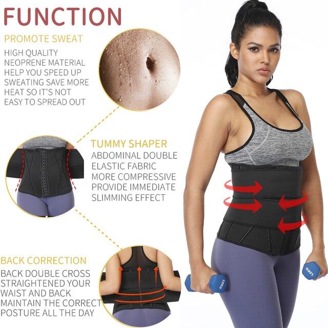 Waist Trainer Women Slimming Sheath Tummy Reducing Shapewear Belly Shapers Sweat Body Shaper Sauna Corset Workout Trimmer Belts 2