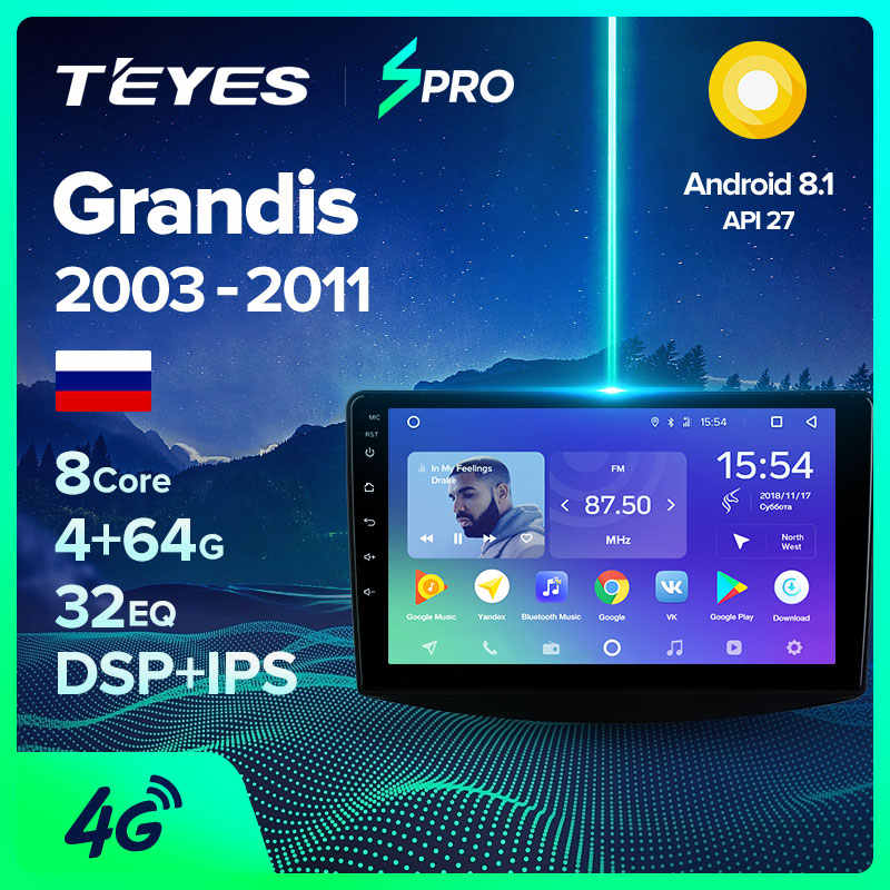 TEYES SPRO Per Mitsubishi Grandis 1 2003 2011 Auto Radio Multimedia Video Player di Navigazione GPS Android 8.1 No 2din 2 din dvd
