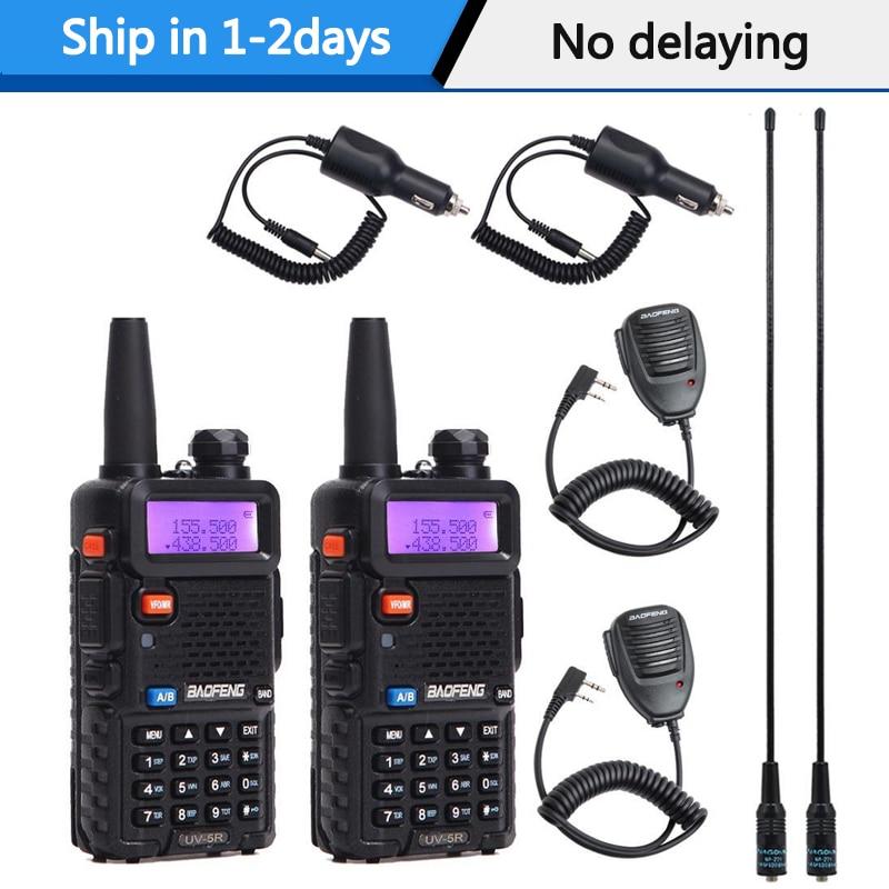 2 pcs baofeng UV-5R walkie talkie vhf/UHF136-174Mhz & 400-520 mhz rádio em dois sentidos baofeng uv 5r portátil walkie talkie uv5r