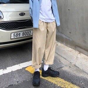 Image 5 - 2020男性のシンプルなレジャーメンズ綿ハーレムパンツルーズファッショントレンド黒色カジュアルパンツ男性のズボンプラスサイズm XL