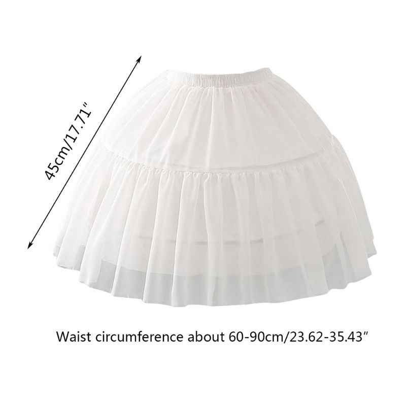 Cosplay poisson-os jupe courte Lolita Carmen Slip Liner filles mignonnes jupes jupon réglable