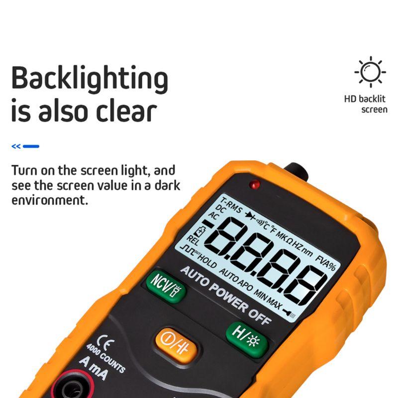 Xl830l digital multímetro handheld lcd backlight ac
