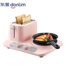 Donlim DL-3405, 3 в 1, хлебопечка, кофе, жаровня, бытовая машина для завтрака, жареные яйца, сковорода-пароварка, розовая, сделай сам, cooker220-230-240v