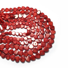 Newest Natural Stone Coral Beads for Jewelry Making Heart Shape Loose Isolation DIY Bracelet Necklace Accessorie