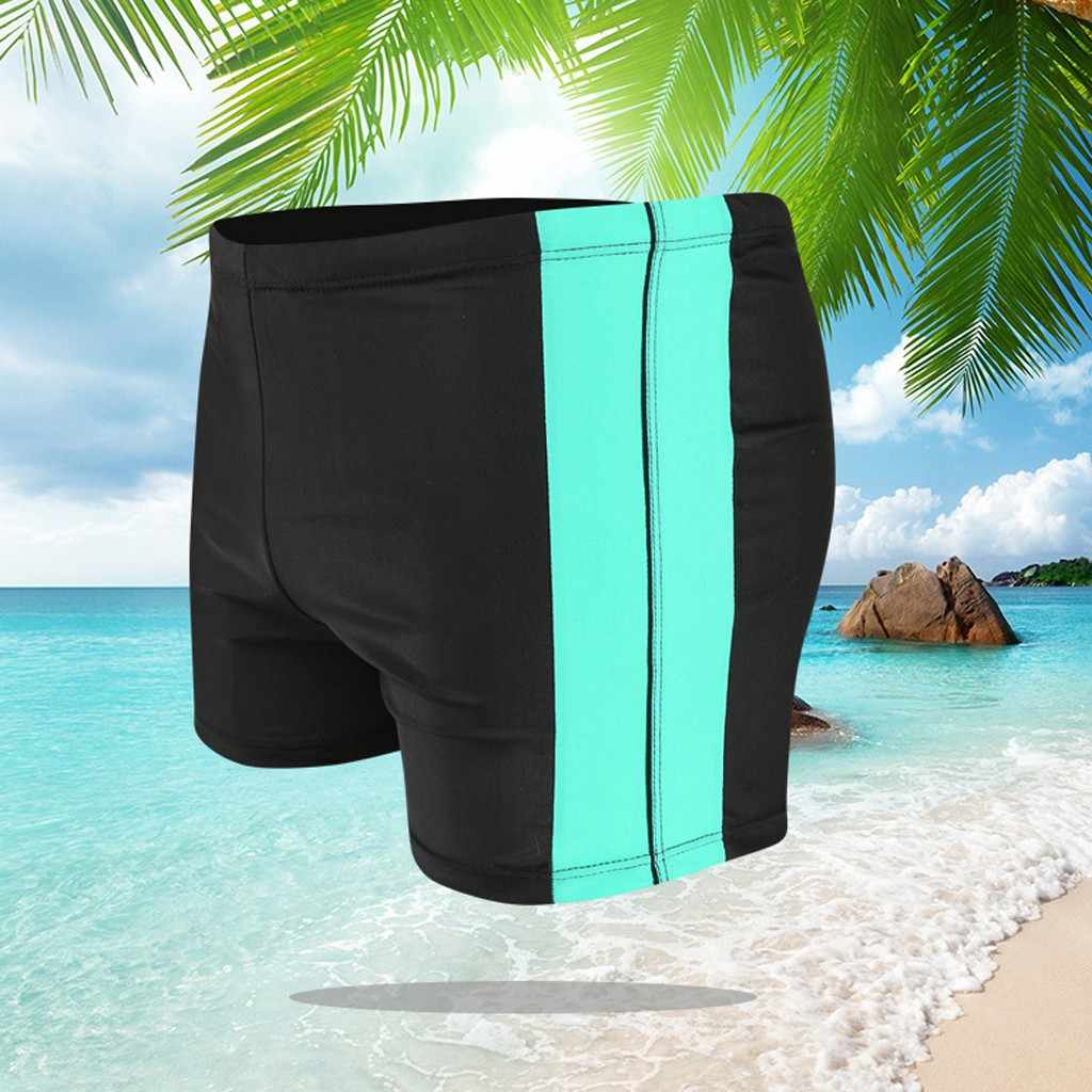 شورت سباحة رجالي مثير التباين اللون المرقعة شاطئ ملابس السباحة القصيرة غاي ملابس السباحة رجل تصفح الذكور لباس سباحة سروال داخلي