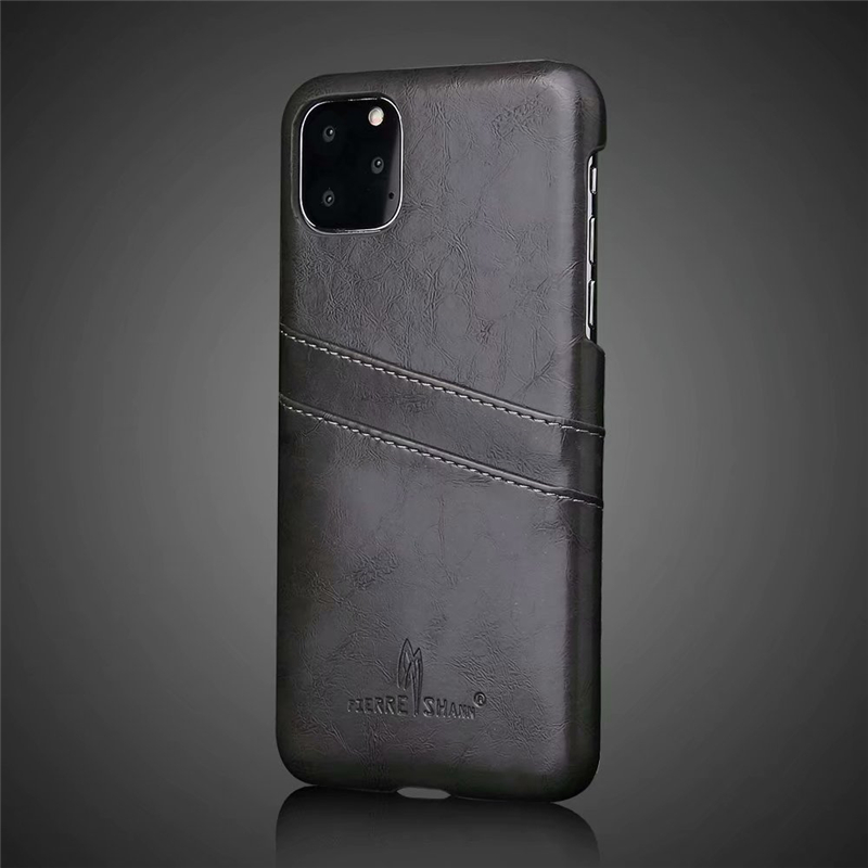 Slim Hard Leather Card Holder Case for iPhone 11/11 Pro/11 Pro Max 9