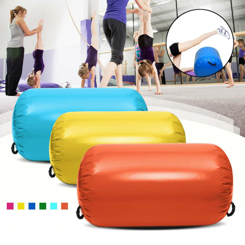 Inflatable Round <font><b>Gymnastics</b></font> Air <font><b>Mat</b></font> For <font><b>Kids</b></font> Home GYM <font><b>Gymnastics</b></font> Exercise Tumbling <font><b>Mat</b></font> Tumble Track <font><b>Mat</b></font> for <font><b>Gymnastics</b></font> Training image