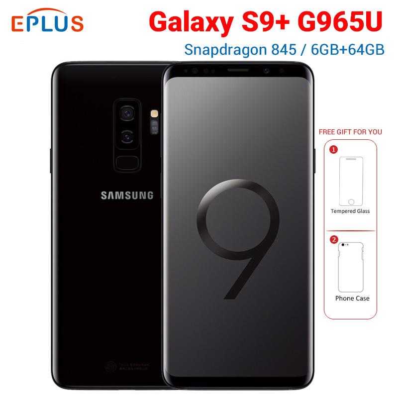New Original Samsung Galaxy S9 Plus S9+ G965U AT&T Mobile Phone Snapdragon 845 Octa Core 6.2