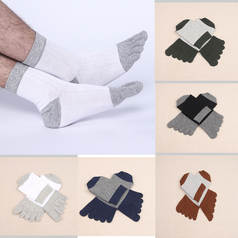 Men toe socks business patchwork men's socks five finger toe cotton Deodorant Sweat-absorbent funny cute socks men sock 2019