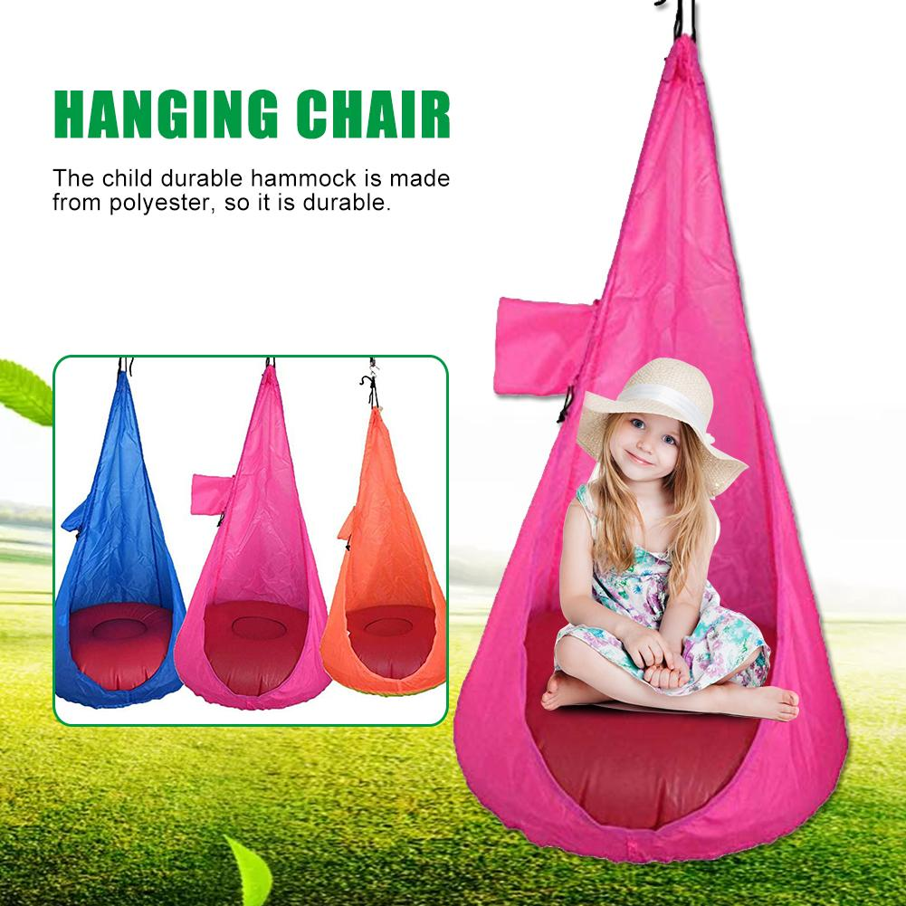 Children Hammock Indoor Outdoor Hanging Chair Garden Furniture Pod Swings Chair Child Cocoon Swing Seat Inflatable Cushion