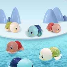 1pc Baby Toys 0-12 Months For Bathroom Bath Tortoise Toddler Play Wash Classic Clockwork Shower Dabbling Cartoon Animal ABS