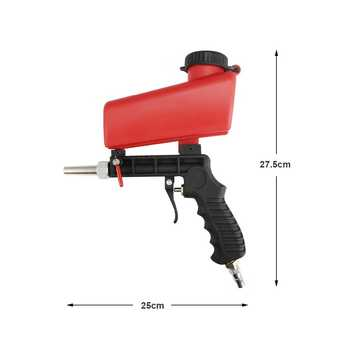 90psi Portable Gravity Sandblasting Gun Pneumatic Small Sand Blasting spray gun Adjustable Pneumatic Sandblaster DIY Power Tool