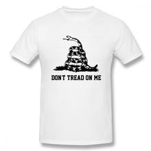 Dont Tread On Me off white Mens Basic Short Sleeve T-Shirt 100 Percent Cotton Graphic Tshirt