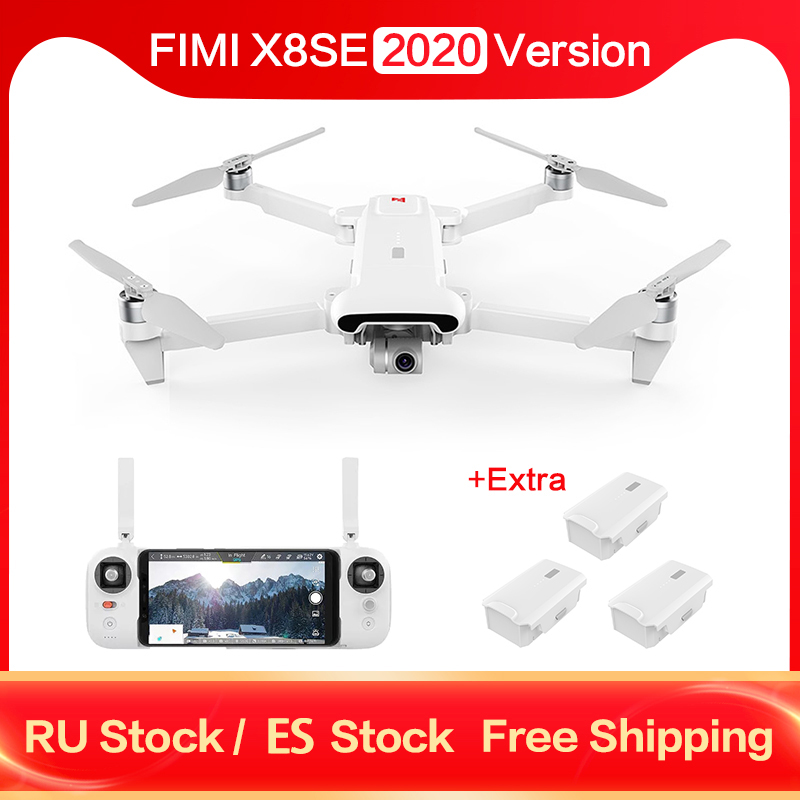 Fast Shipping FIMI X8SE 2020 Camera Drone 4K 8KM FPV 3 Axis Gimbal Full Drone Set RTF with Remote Control Battery Accessory Kit