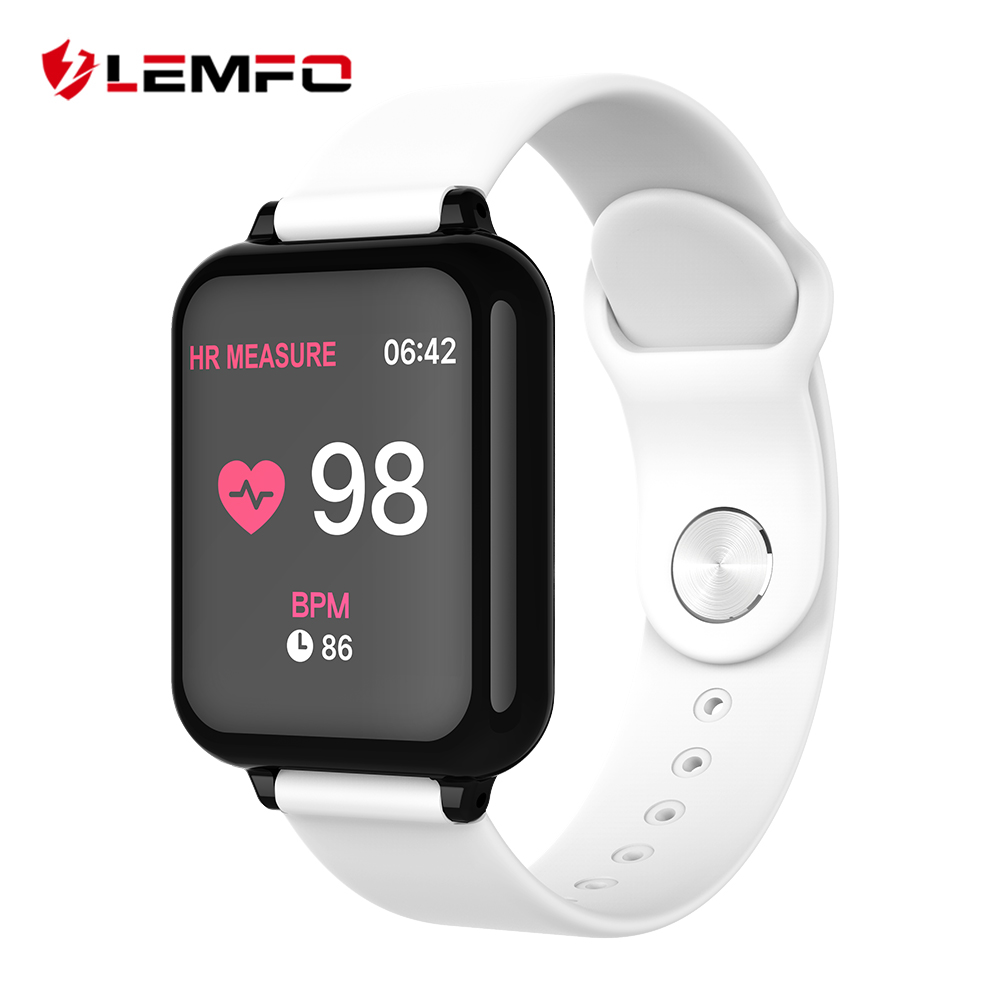 LEMFO Color Display Smart Watch Men IP67 Waterproof Heart Rate Monitor Smartwatch Women For Android IOS Apple Watch Phone|Smart Watches|   - AliExpress