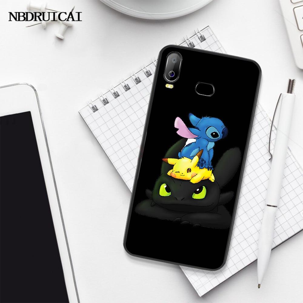 NBDRUICAI بلا أسنان و غرزة الأسود بولي TPU لينة المطاط غطاء الهاتف لسامسونج A10 A20 A30 A40 A50 A70 A71 A51 A6 A8 2018