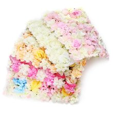 60 x 40cm Artificial Flower Plants Wall Panels Wedding Party Pillar Main Road Floral Decor DIY Flower Hydrangea Carpet(China)
