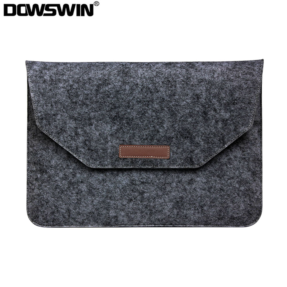Fashion Wool Felt Laptop Sleeve Bag For Apple Macbook Air Pro Retina 11 12 13 15 Laptop Case Cover For Mac Book 13.3 15.4 Inch
